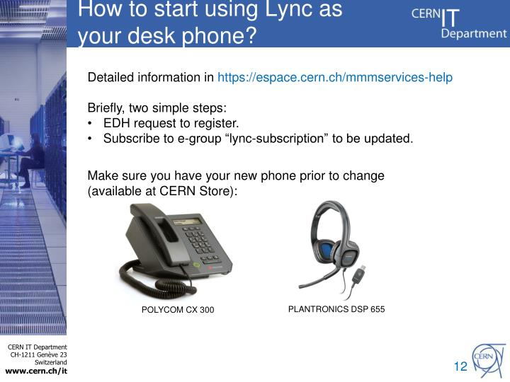 How to start using Lync as your desk phone?