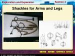 shackles for arms and legs