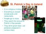 1 st patrick s day in ireland