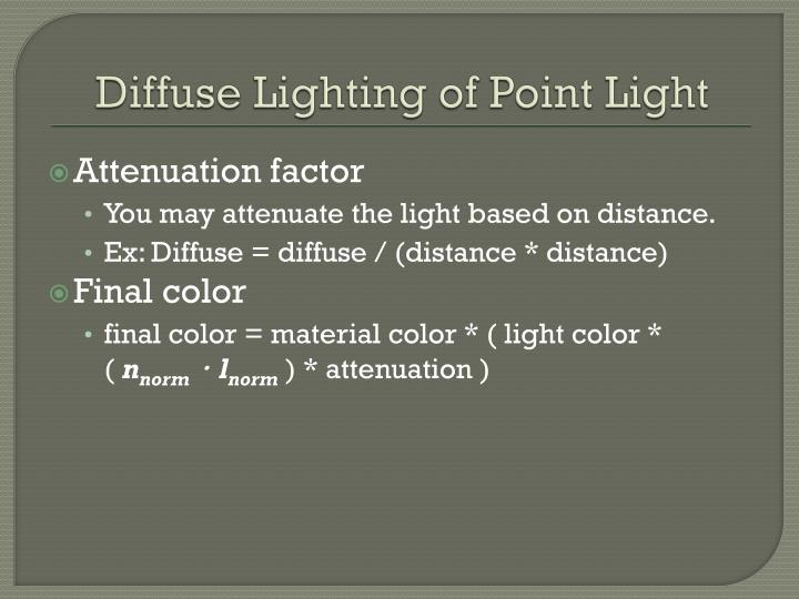 Diffuse Lighting of Point Light