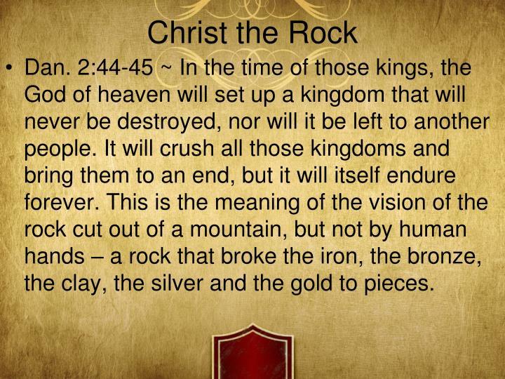 Christ the Rock