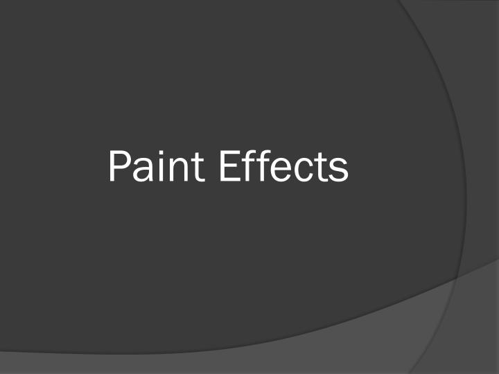 paint effects n.