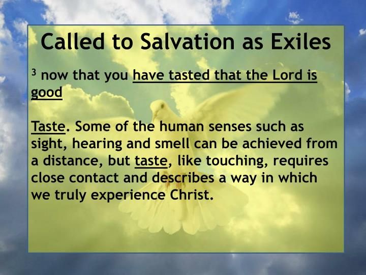 Called to Salvation as Exiles