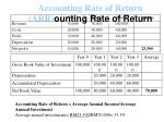 accounting rate of return arr ounting rate of return