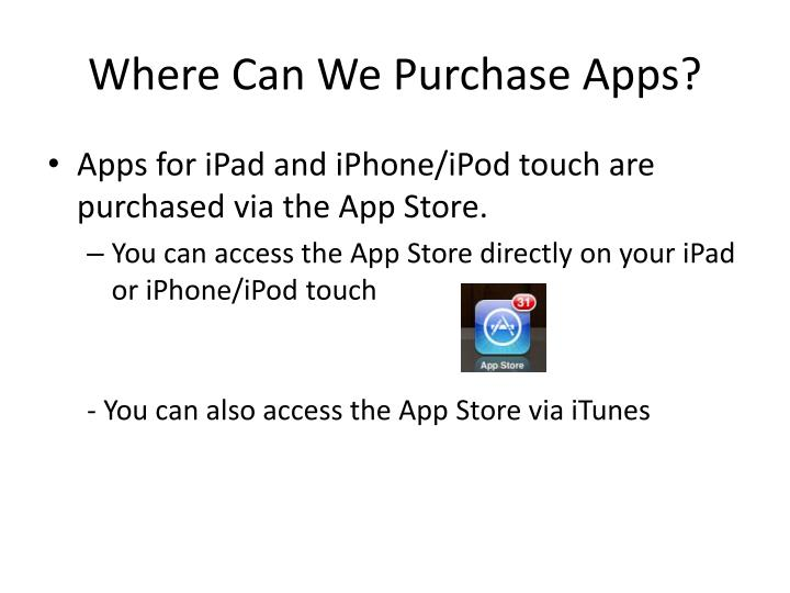 Where Can We Purchase Apps?