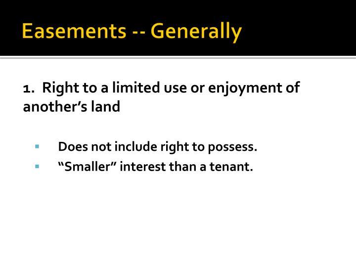 Easements generally