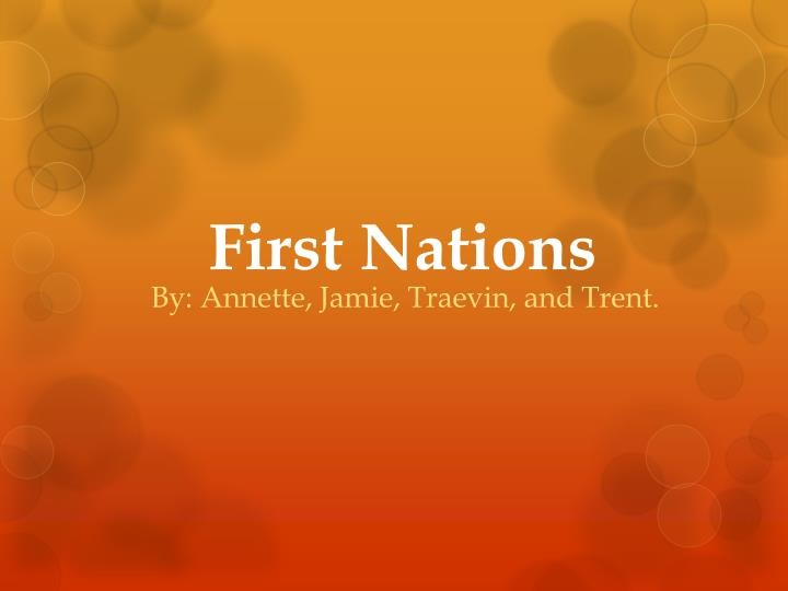 first nations n.
