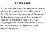 personal e mail