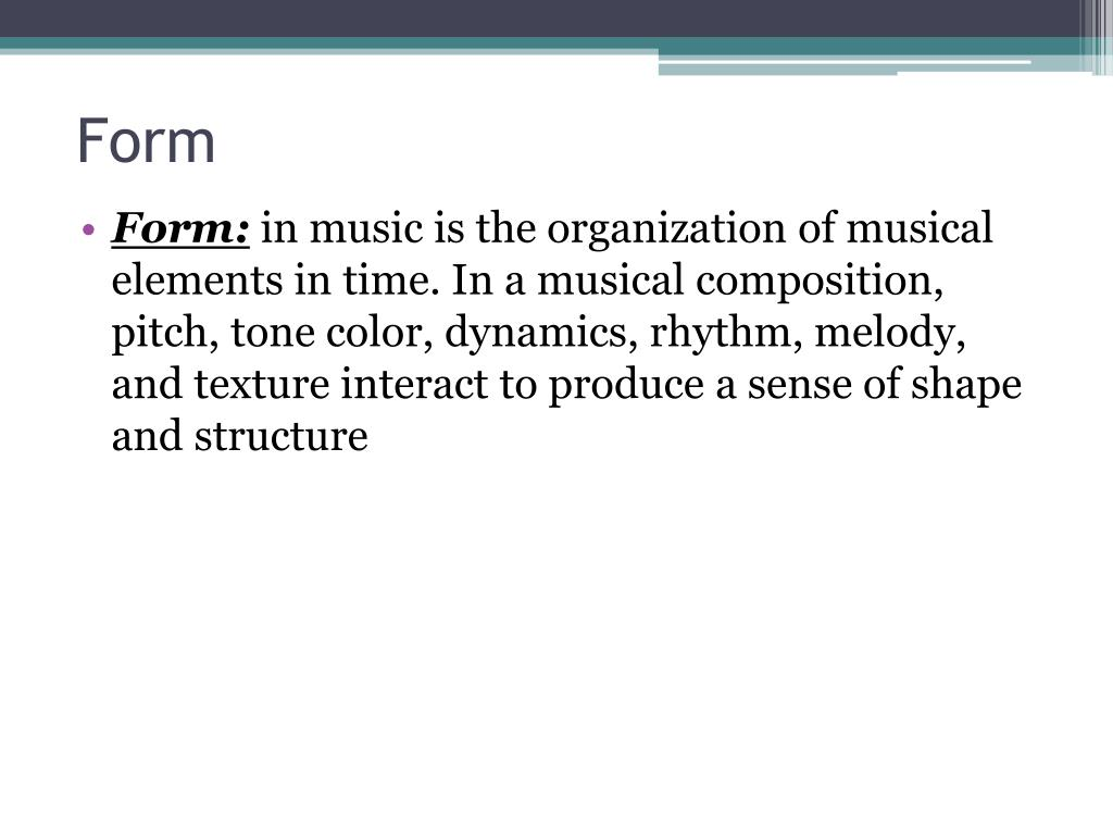 PPT - Elements of Music PowerPoint Presentation - ID:2358683