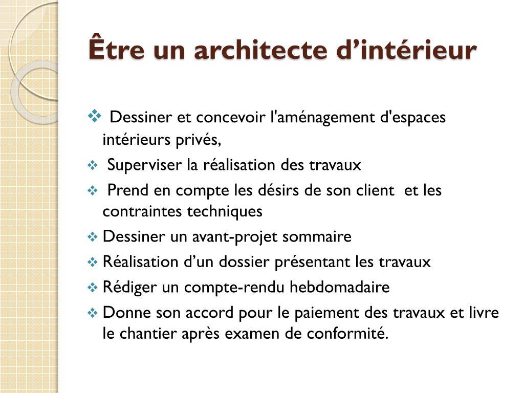 Livre Architecture D Intérieur ppt - le métier d'architecte d'intérieur (décorateur