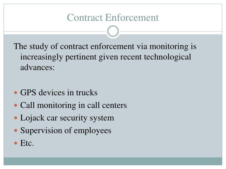 Contract enforcement1
