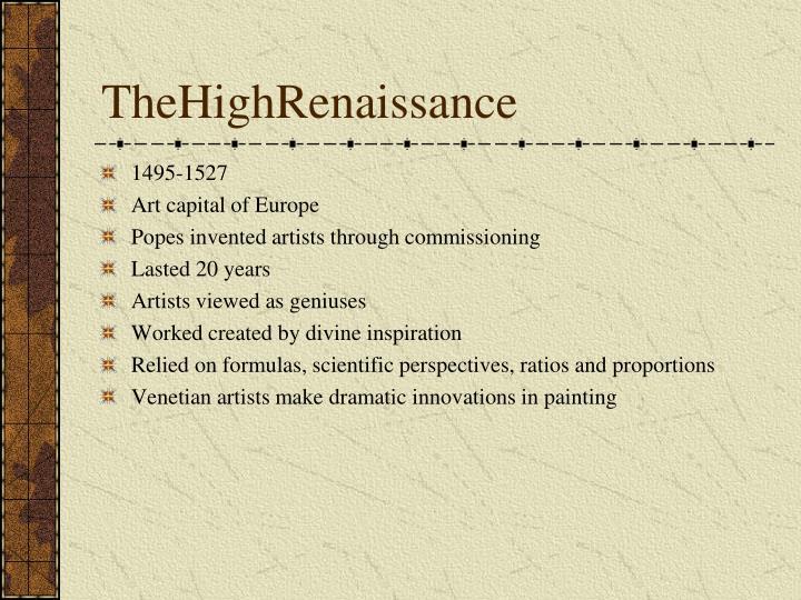 TheHighRenaissance