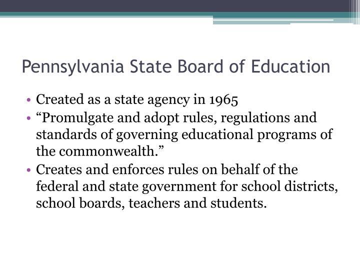 Pennsylvania State Board of Education