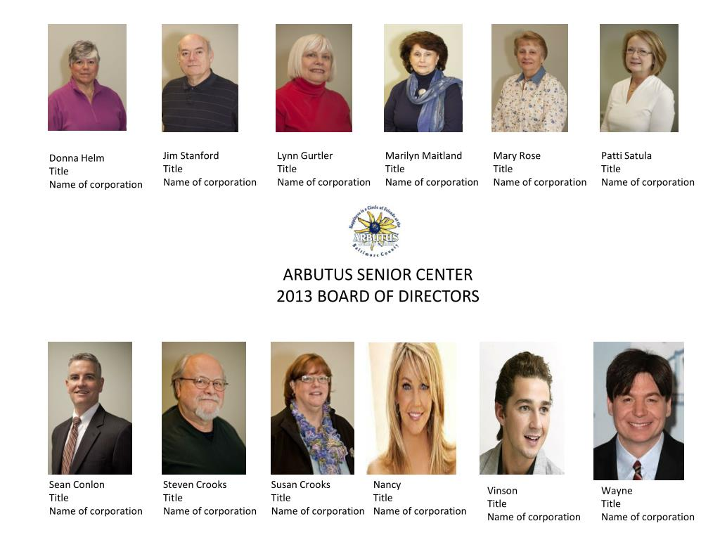 Arbutus senior center