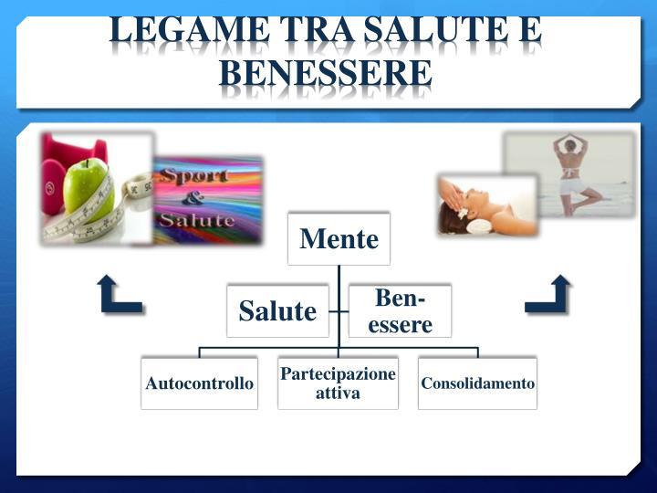 LEGAME TRA SALUTE E BENESSERE
