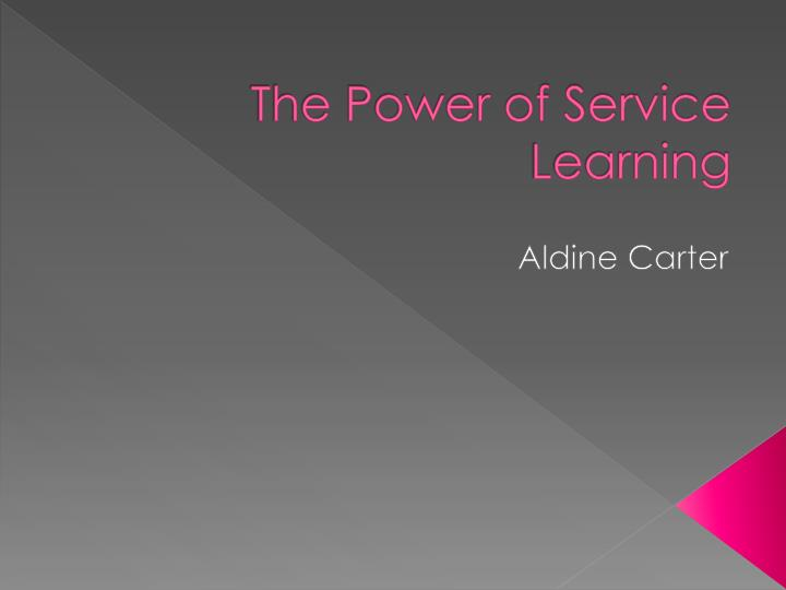the power of service learning n.