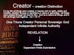 creator creation distinction
