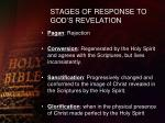 stages of response to god s revelation