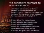 the christian s response to god s revelation