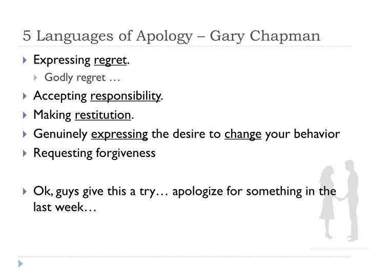 5 Languages of Apology – Gary Chapman