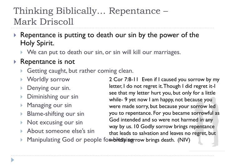 Thinking biblically repentance mark driscoll