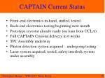 captain current status