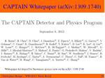 captain whitepaper arxiv 1309 1740