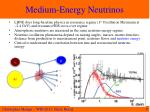 medium energy n eutrinos