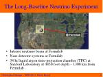 the long baseline neutrino experiment