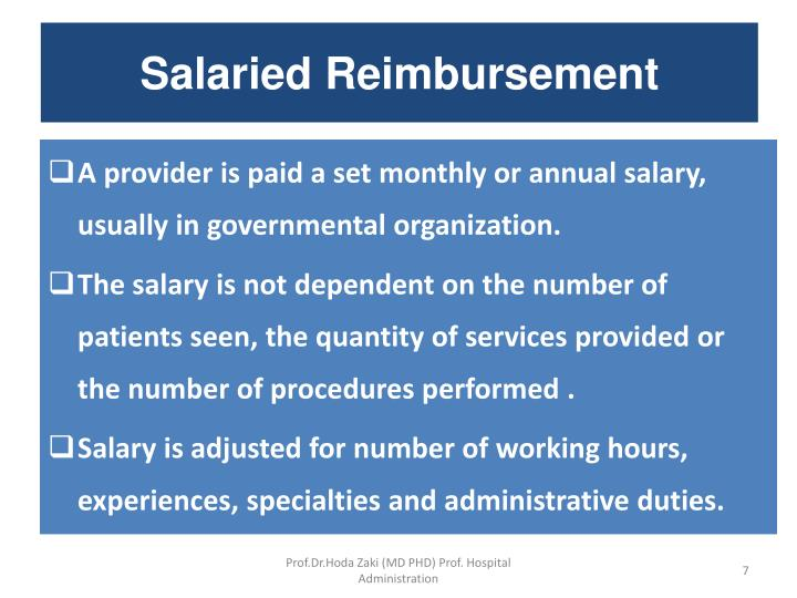 Salaried Reimbursement