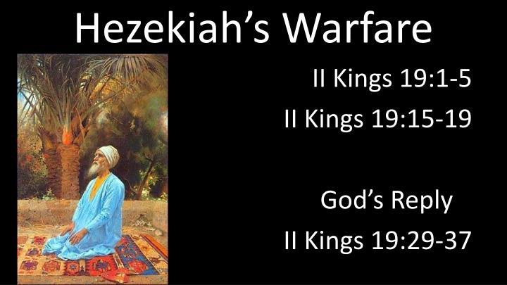 Hezekiah's Warfare