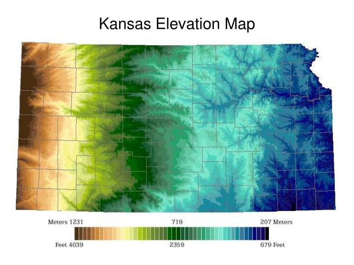 kansas elevation map n.