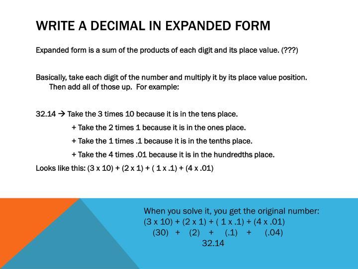 Ppt Decimals Powerpoint Presentation Id2359256