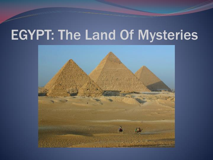 egypt the land of mysteries n.