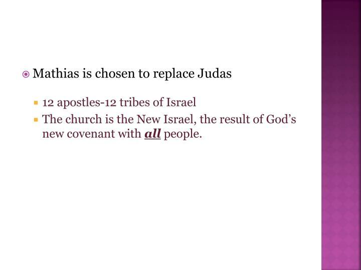 Mathias is chosen to replace Judas