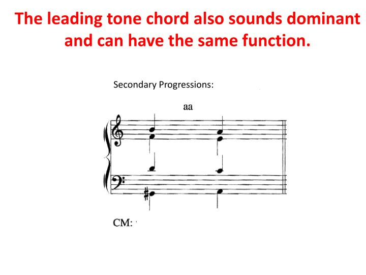 The leading tone chord also sounds dominant and can have the same function.