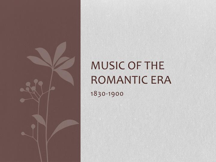 an introduction to the history of the romantic era Read and learn for free about the following article: romanticism and the victorian era.