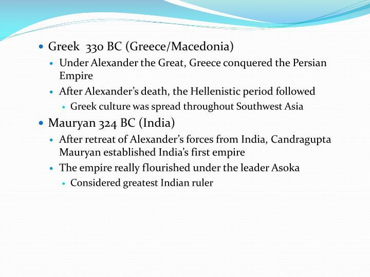Greek  330 BC (Greece/Macedonia)