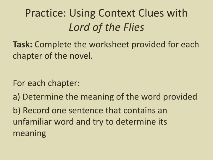 Practice: Using Context Clues with