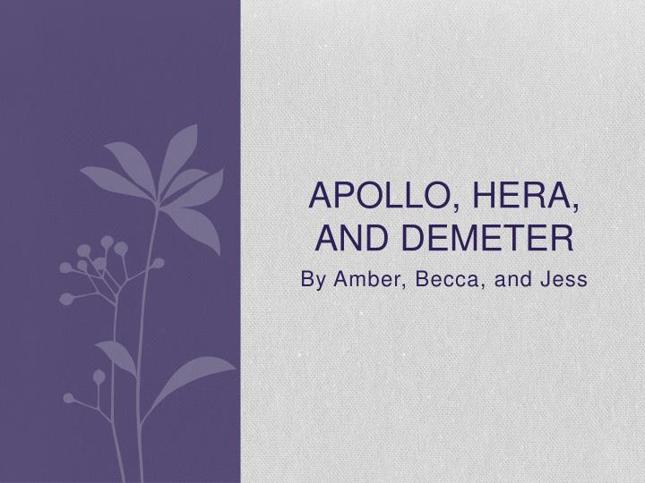 apollo hera and demeter n.