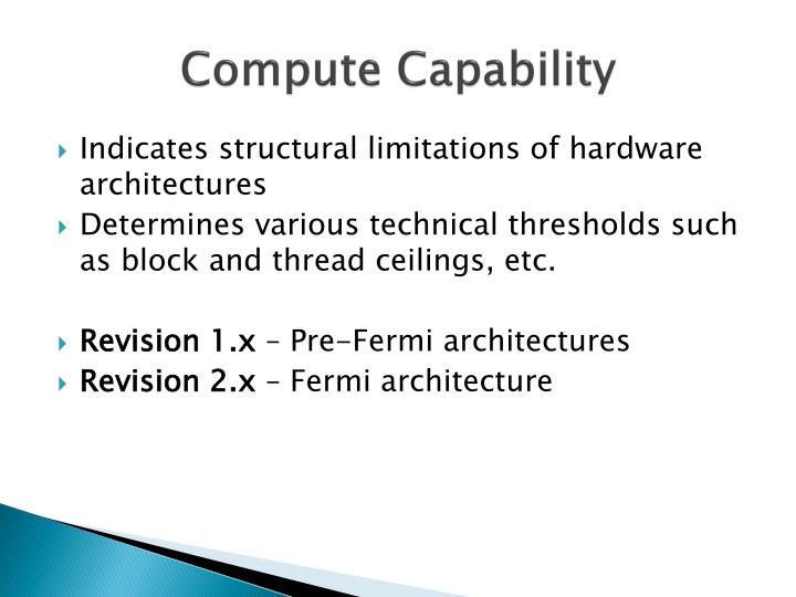 Compute Capability