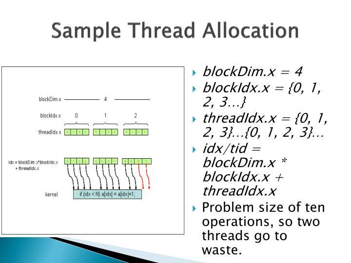 Sample Thread Allocation