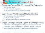 software firmware effort