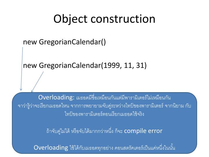 Object construction
