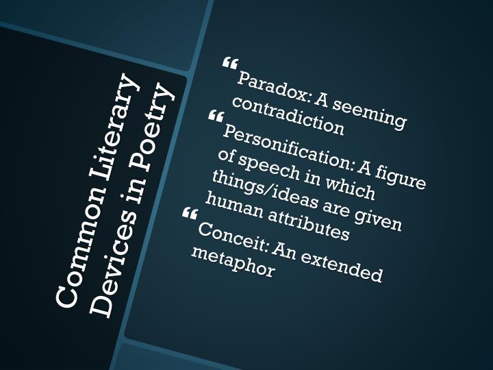 Paradox: A seeming contradiction
