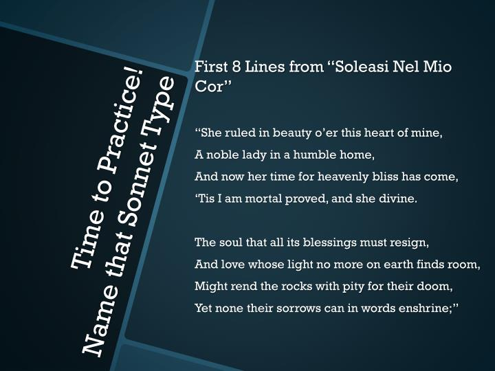 """First 8 Lines from """""""