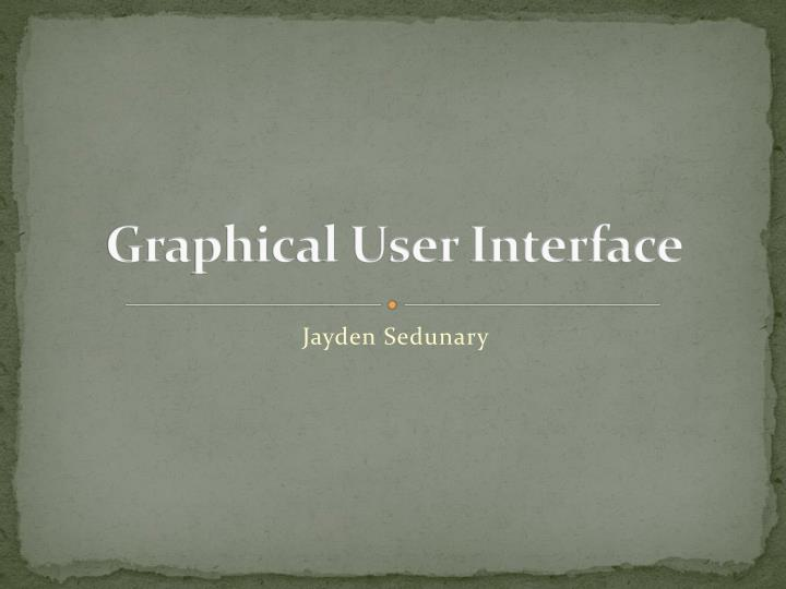 graphical user interface n.
