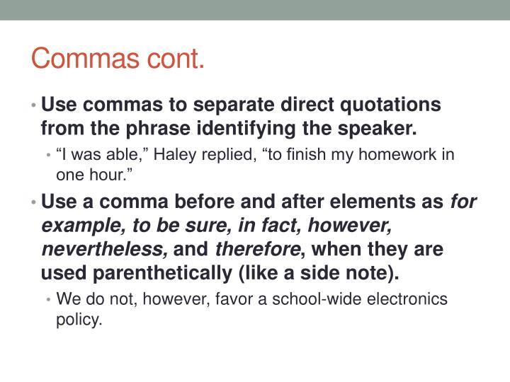 PPT Commas PowerPoint Presentation ID 2359856