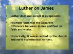 luther on j ames2