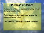 purpose of james